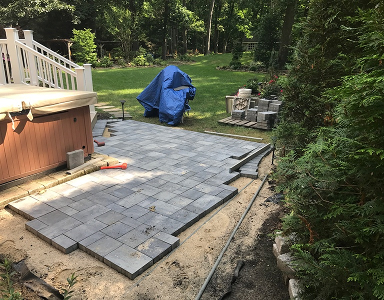 hot tub paver patio 2