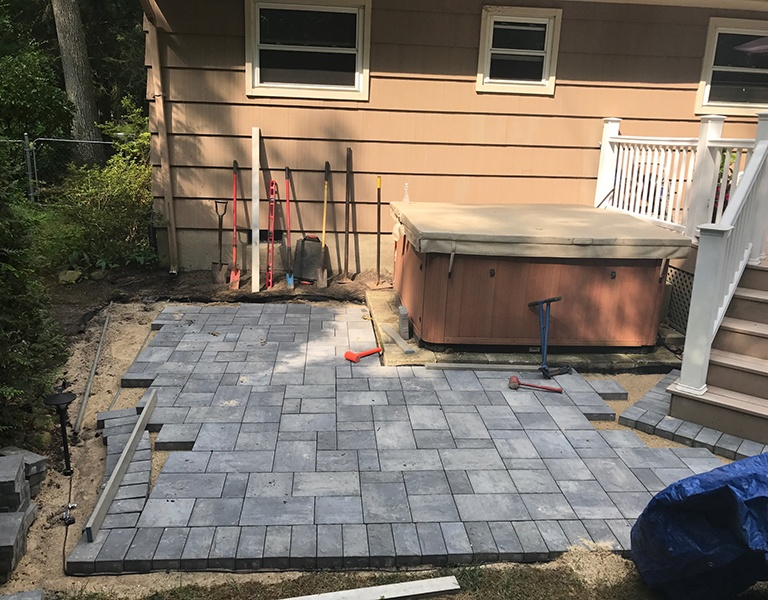 hot tub paver patio 3